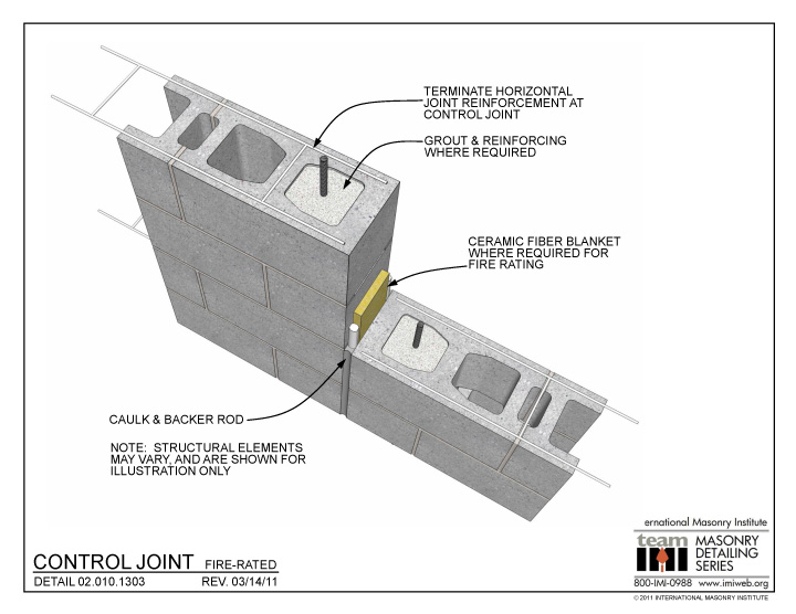 02 010 1303 Control Joint Fire Rated