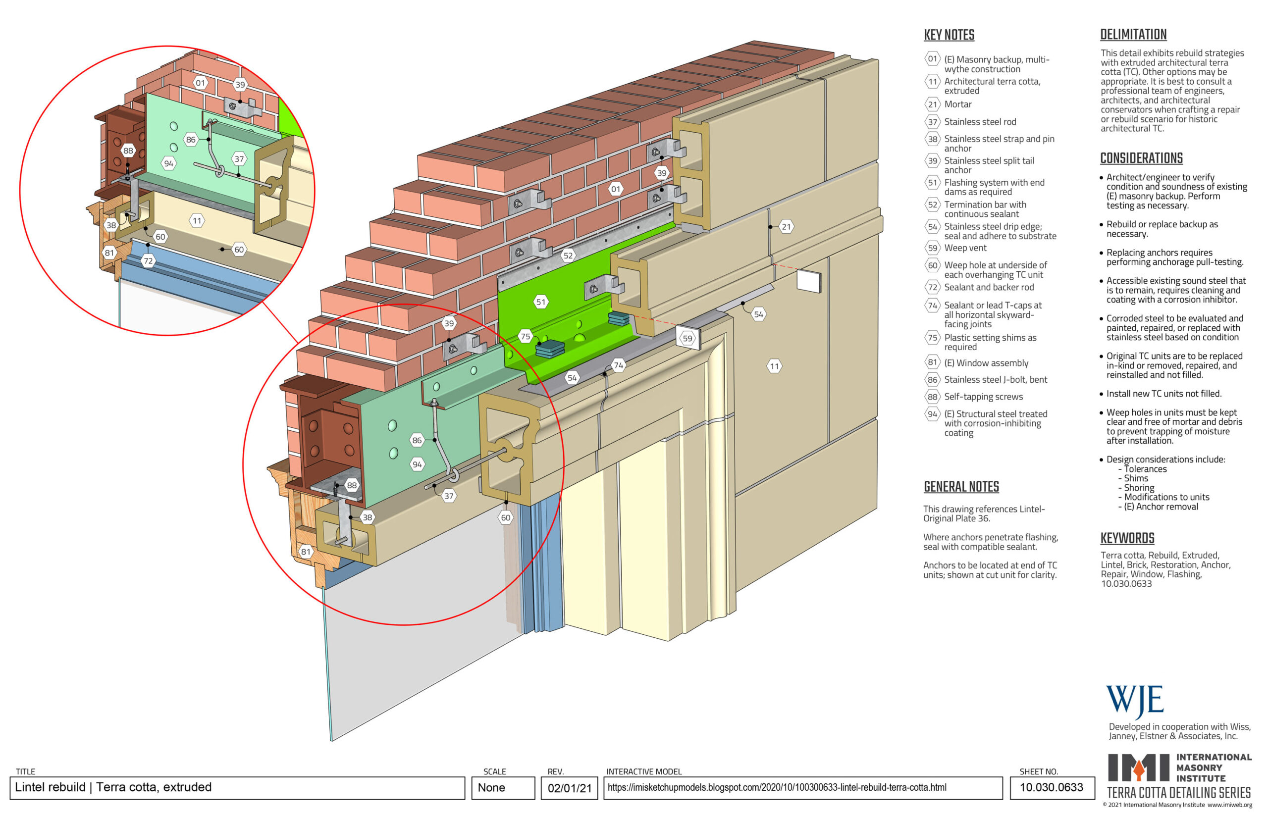 Extruded Terra Cotta Lintel Rebuild
