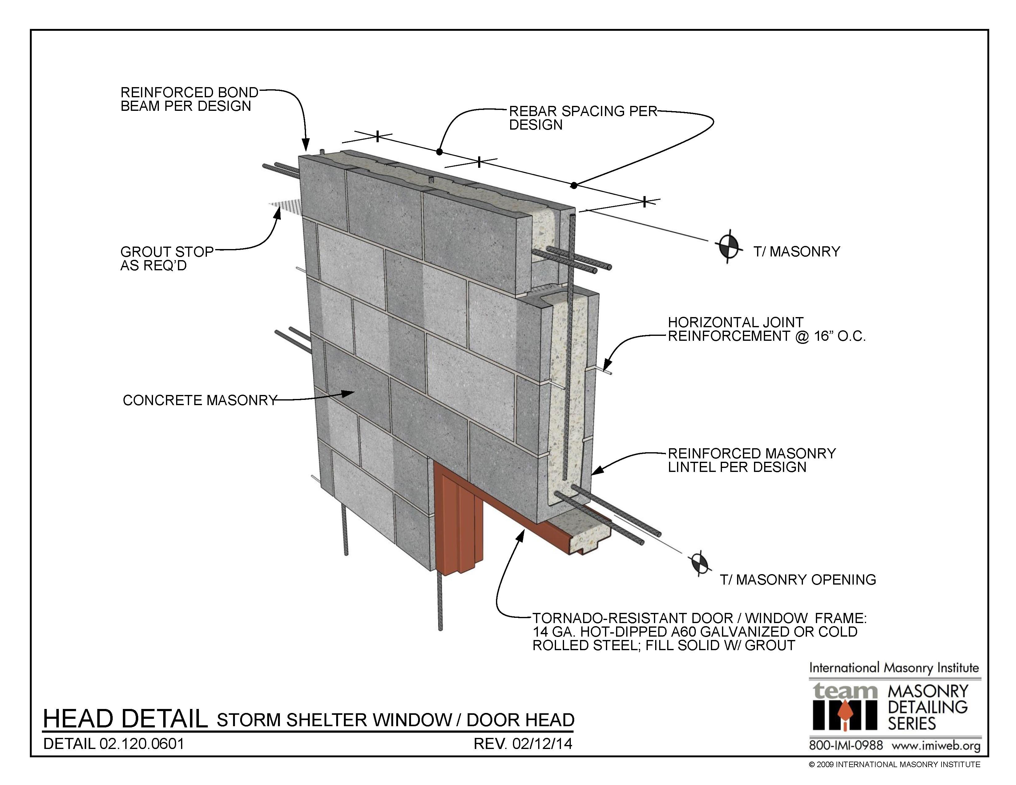 02 120 0601 Head Detail Storm Shelter Window Door